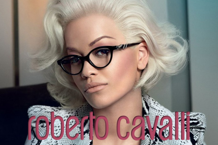Rita Ora wears Roberto Cavalli designer frames